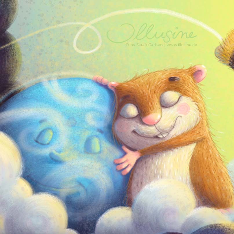 Erde und Hamster umarmen sich, Klimawandel, illusine.de
