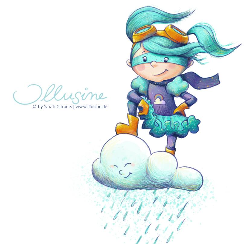 Superheldin Cloudy