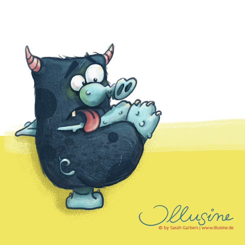 Monster, Illustration von www.illusine.de copyright sarah garbers