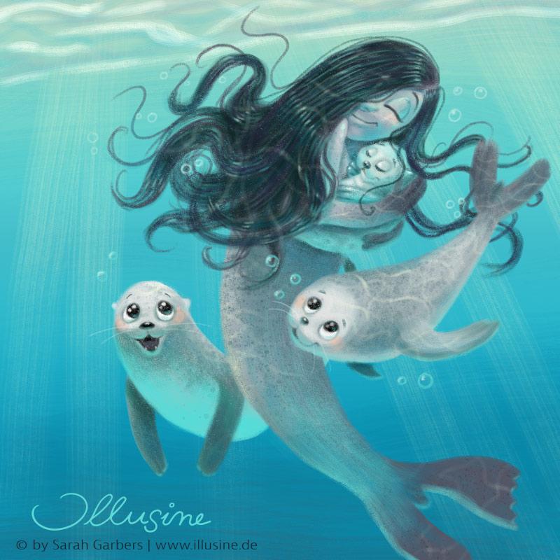 Selkie, Robbe, Baby, Nixe, Meerjungfrau, Meer, Ozean, Liebe, Verwandling