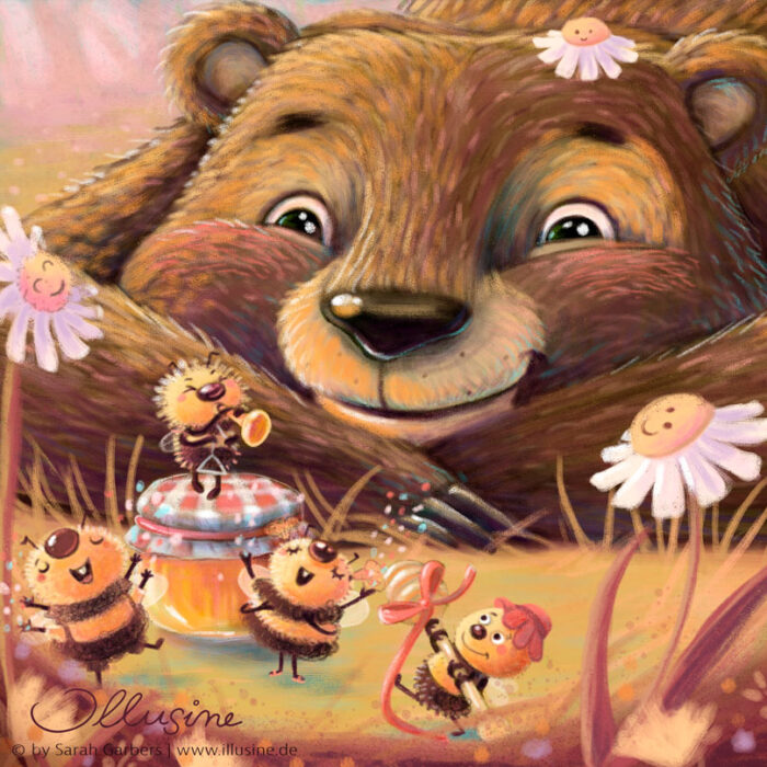 Bär, Geburtstag, Bienen, Band, Honig, Wald, Frühling, copyright sarah garbers 2020