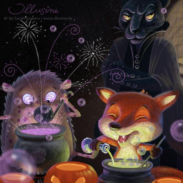 Fuchs, Igel, Zaubertrank, Snape, Panther, Halloween
